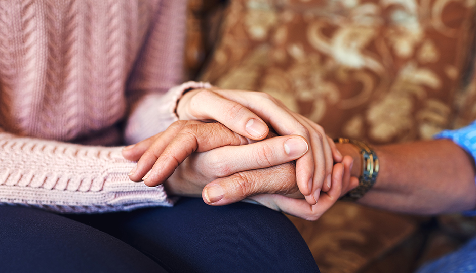 Caregiver March 2019 Hands being held