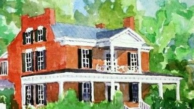 Painting of Mudds Grove 2